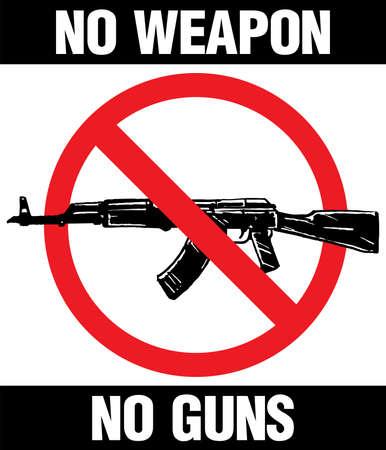 No weapon No Guns sign, Vector illustration