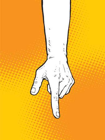 Pointing Finger Illustration, Vector