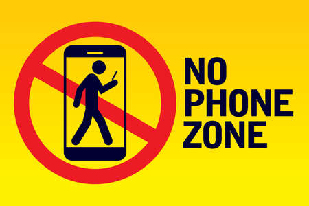 No phone zone sign Vectores