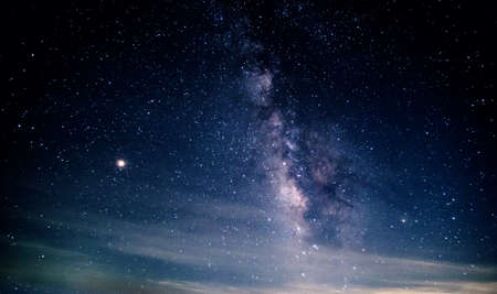 Starry night sky with Milkyway