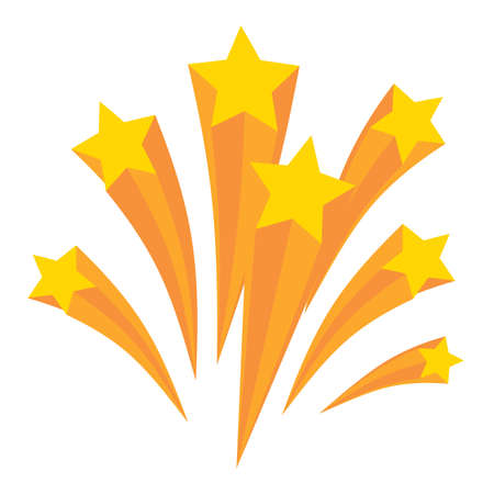 Stars burst elements, Vector illustration