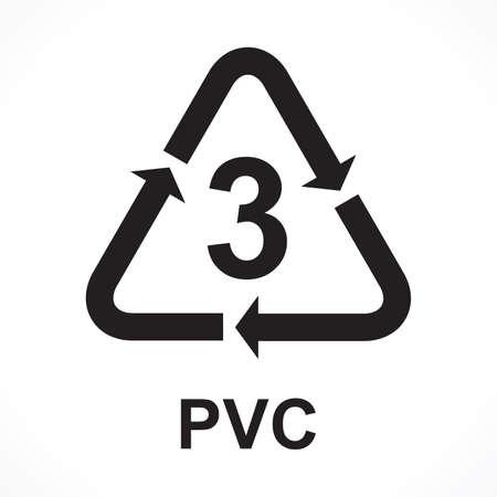 Recycling Symbols number 3 PVC, vector