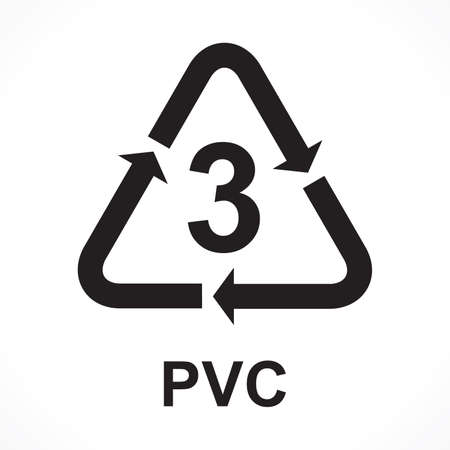 Recycling Symbols number 3 PVC, vector