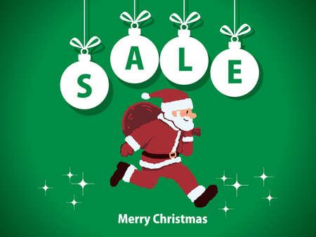 Santa Claus Christmas sale, vector Illustration