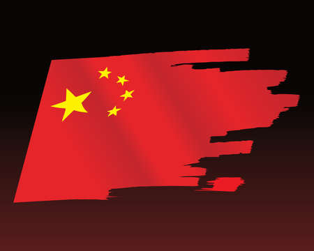 China Flag vector 일러스트
