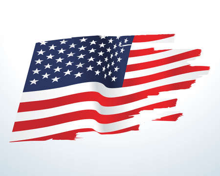 USA flag illustration Stock Illustratie