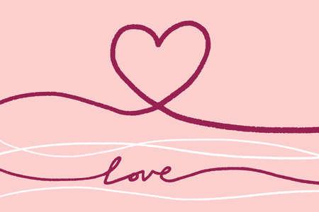 Valentines day, Love illustration Stock Illustratie