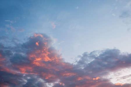 Dramatic sunset and sunrise sky Stockfoto