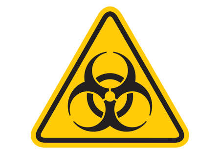 Bio hazard icon. Biohazard icon. Biohazard symbol. vector  イラスト・ベクター素材