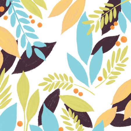 Spring summer Nature pattern, illustration