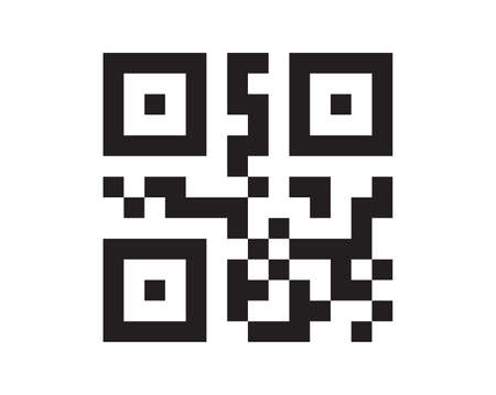 QR code sample for smartphone scanning isolated on white background. vector 矢量图像