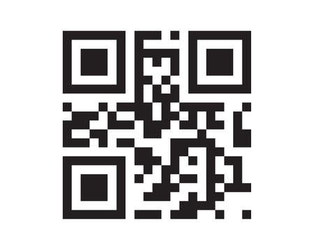 QR code sample for smartphone scanning isolated on white background. vector Banco de Imagens - 153836225