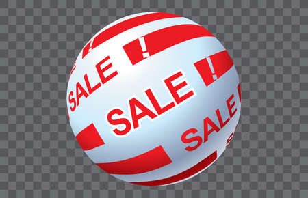 Sale Christmas ball graphic Banco de Imagens