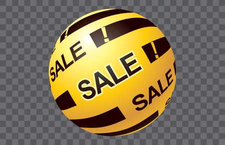 Sale Christmas ball graphic vector Banco de Imagens