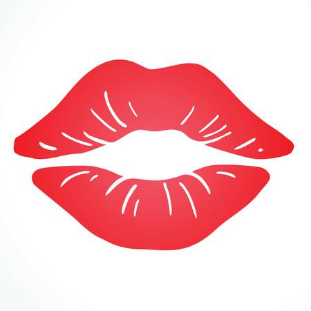 Kiss, Sexy Lips Illustration Banco de Imagens - 160503785