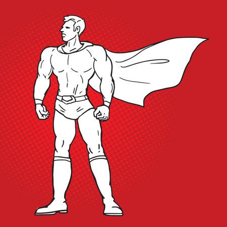 superhero comic style illustration vector Banco de Imagens - 160503786