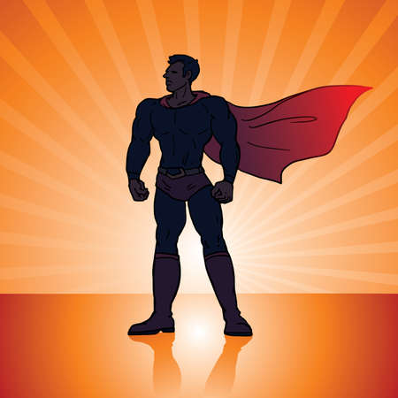 superhero comic style illustration