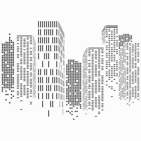 Abstract City Scene buildings, illustration vector Banco de Imagens - 162260754
