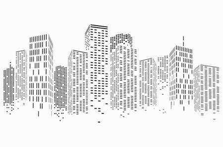 Abstract City Scene buildings, illustration vector Banco de Imagens - 162367022