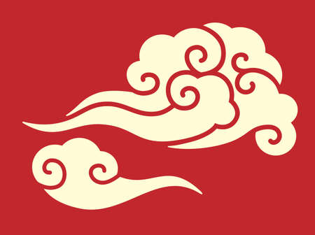 Asia Chinese new year style cloud pattern, vector Banco de Imagens
