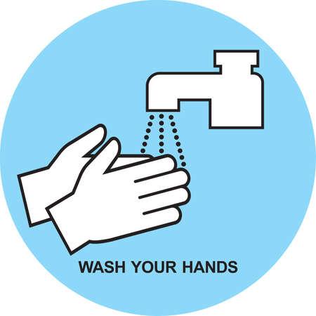 pictogram Washing hands illustration vector Banco de Imagens - 163492661
