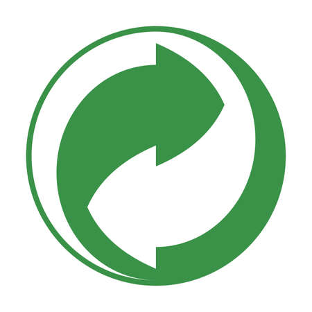 Green Recycle or reuse icon vector
