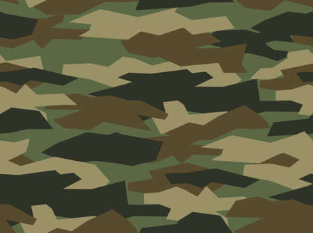 Camouflage seamless pattern. Khaki texture, military army green hunting. Vector illustration