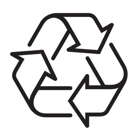 Reuse Recycle icon sign vector