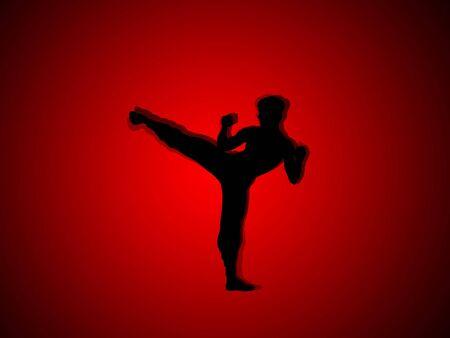 abstract graphic art , kung fu photo