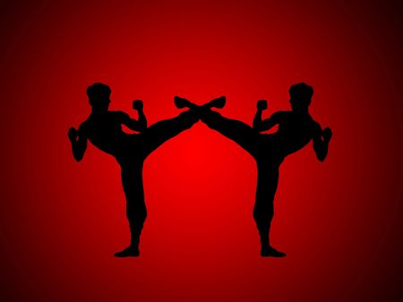 isotope: abstract graphic art , kung fu