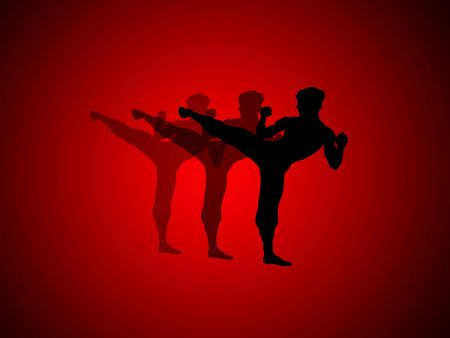 abstract graphic art , kung fu Stock Photo - 671246