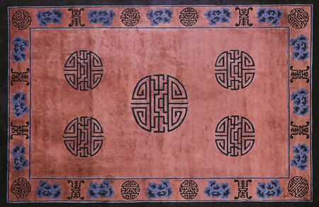 traditional chinese textile and carpet pattern prints background photo