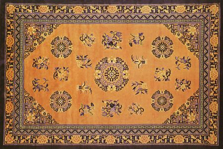 reiteration: traditional chinese textile and carpet pattern prints background