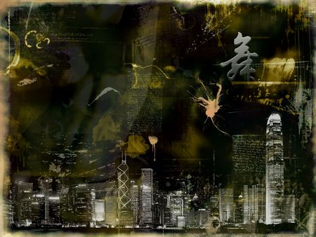 middleages: abstract photomontage background graphic