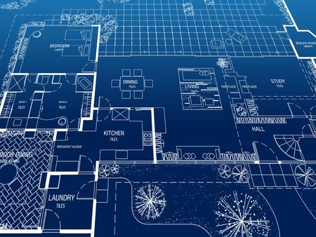 Architecture Floor plan background