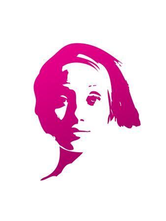 Girl face T-shirt pattern background wallpaper photo