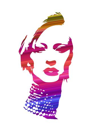 college girl: girl face abstract adventures design artwork