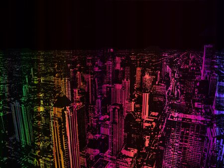 Mixture Colour City background abstract wallpaper poster