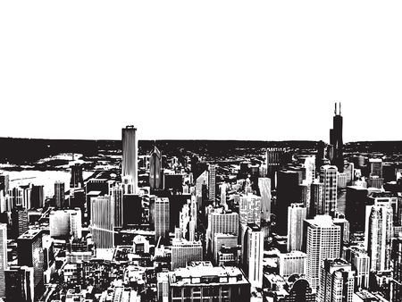 black and white City background church wallpaper poster