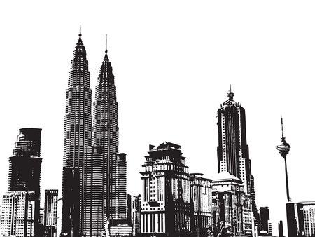 City Background -- Kuala Lumpur  Stock Photo - 742495