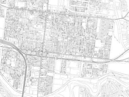city map drawing black and white Stock Photo