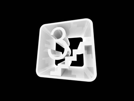 3D abstract icon photo