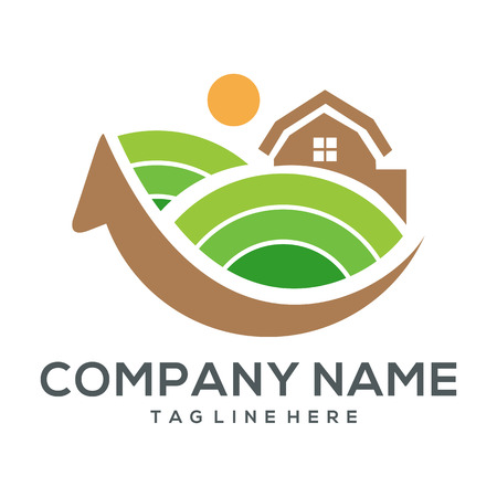 Agriculture logo icon and illustration for your business or company