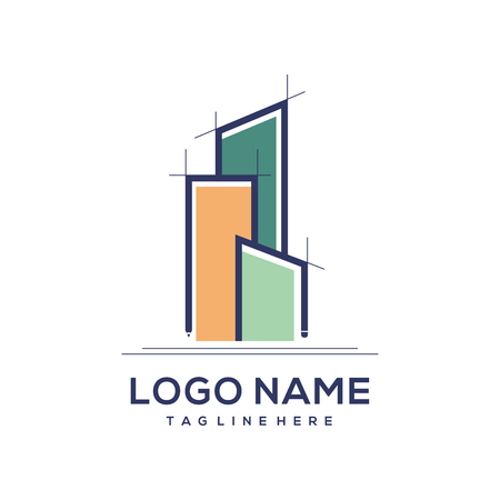 Architecture and building construction logo for personal branding or company logo