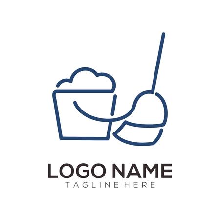 Création d'icônes de logo de nettoyage et d'entretien pour votre entreprise, votre entreprise et votre image de marque personnelle