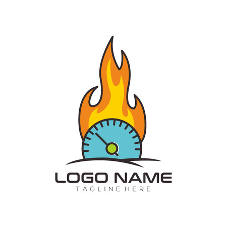 Automotive and repair logo design and icon for your business, company or personal branding Illustration