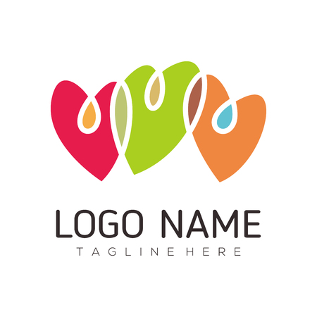 Date love and Valentine logo design suitable for your business, company, or personal branding