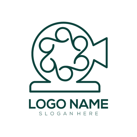 Film entertainment and video logo and icon design suitable for your business, company and personal branding Ilustração