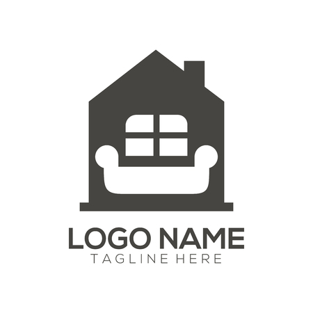 Furniture logo design and icon suitable for your business, company, and personal branding