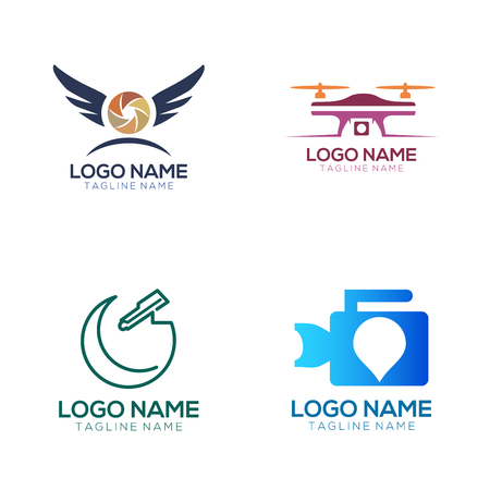 Photography logo and icon design suitable of your business, company and personal branding Illustration